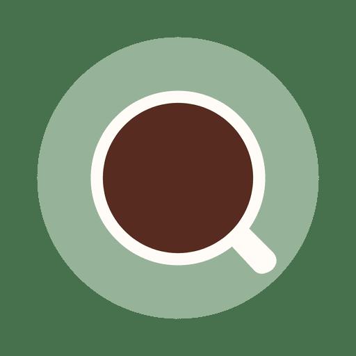 Icono de taza de plato de café