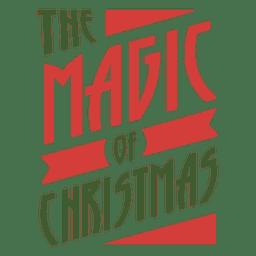 El sello tipográfico magif de navidad.