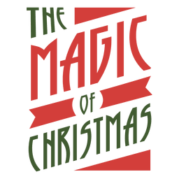 The magif of christmas typographic seal