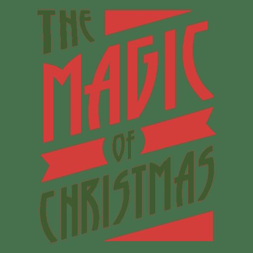 El sello tipográfico magif de navidad. Transparent PNG