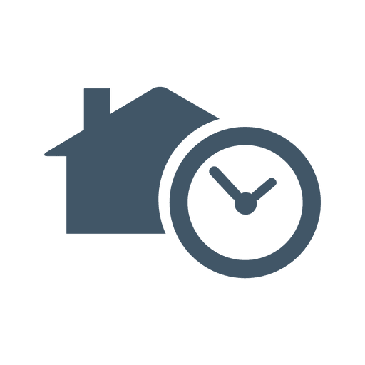 Timer house flat icon Transparent PNG