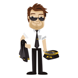 Cansado piloto de dibujos animados de profesión