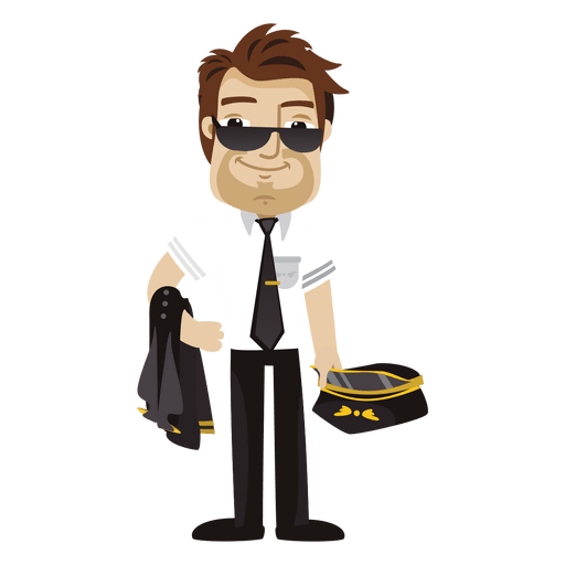 Tired pilot cartoon profession Transparent PNG
