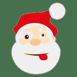 Zunge ragte Santa Emoticon heraus