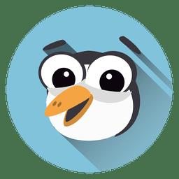 Icono de círculo de dibujos animados de tucán