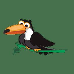 Toucan sitzt auf einem Ast