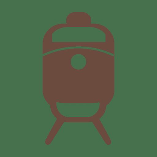Train transport silhouette