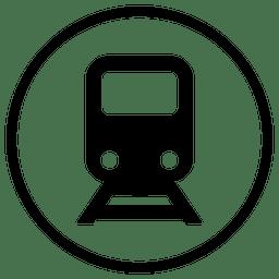 Icono de viaje en tren redondo