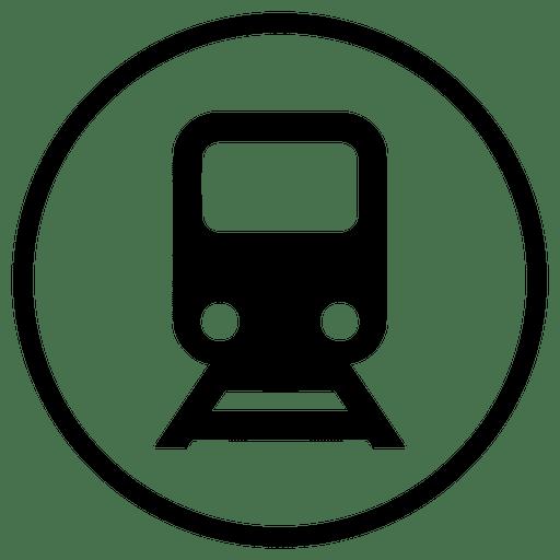 Icono redondo de viaje en tren Transparent PNG