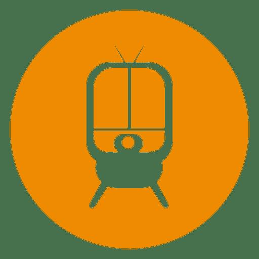 Tramp circle icon
