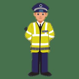 Desenhos animados de profissão de agente de trânsito