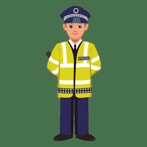 Desenhos animados de profissão de agente de trânsito Transparent PNG