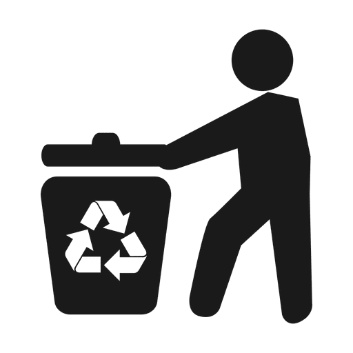 Reciclaje de basura man.svg