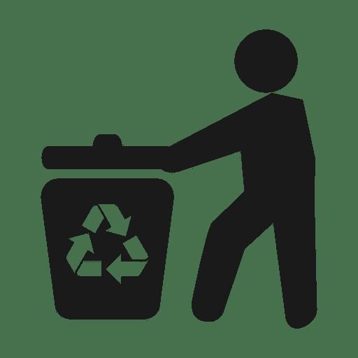 Trash recycling man.svg