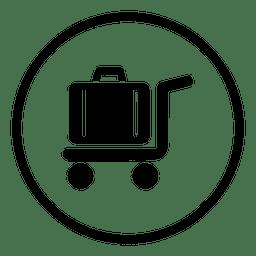 Icono de ronda de aeropuerto de viaje