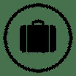 Aeroporto de viagem rodada silhueta de ícone