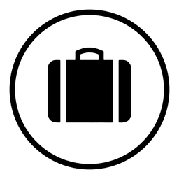 Travel airport round icon silhouette