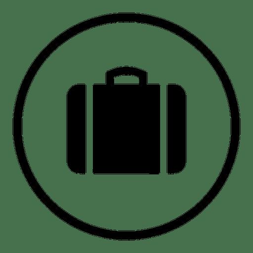Aeroporto de viagem rodada silhueta de ícone Transparent PNG