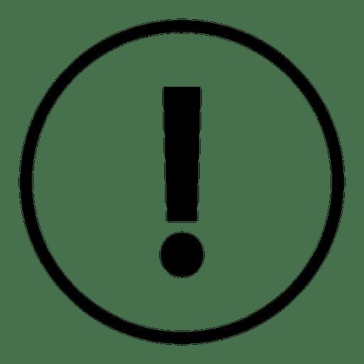 icono de signo de exclamación