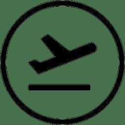 Flughafen runde Symbol abheben