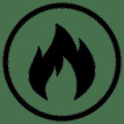 Icono de ronda de fuego del aeropuerto