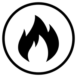 Travel airport fire round icon