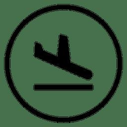 Icono de círculo de aeropuerto de viaje