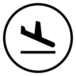 Travel airport circle icon
