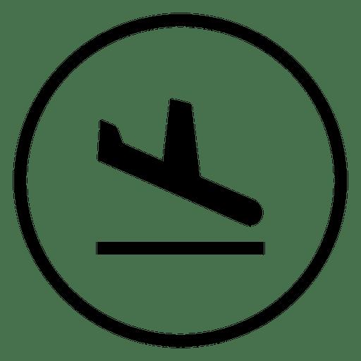 Viagem, aeroporto, círculo, ícone Transparent PNG