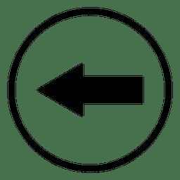 Ícone redondo da seta do aeroporto de viagem