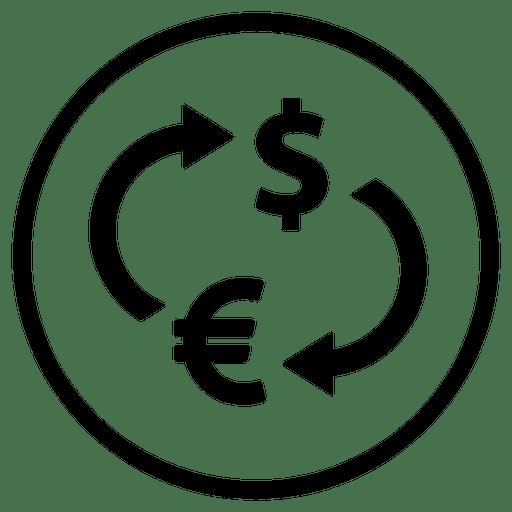 Icono de ronda de dinero de aeropuerto de viaje Transparent PNG