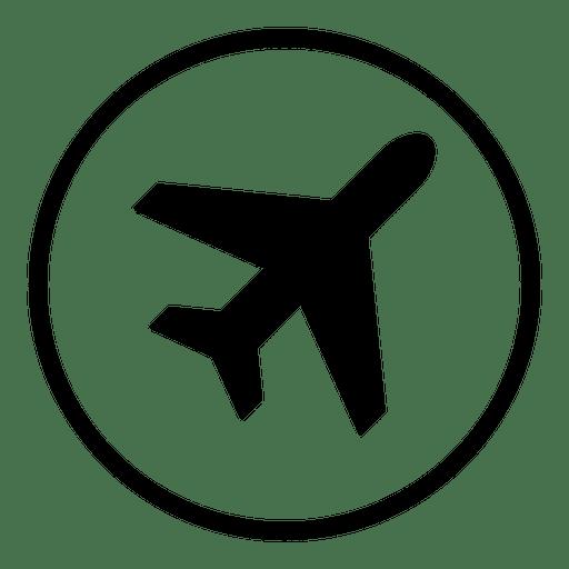 Ícone redondo do aeroporto de avião Transparent PNG