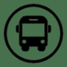 Reisebus-Runde Symbol