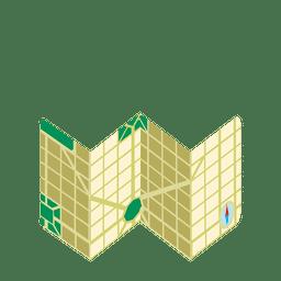 ícone do mapa de viagem