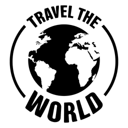 Travel the world emblem