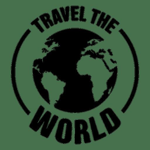 Viaja por el emblema mundial Transparent PNG