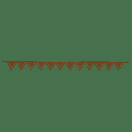 Triangle dot border ornament
