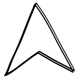 Cursor de flecha de triángulo