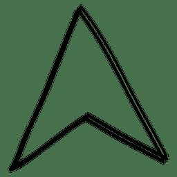 Cursor de seta de linha triângulo