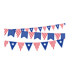 Triangle ribbon usa buntings