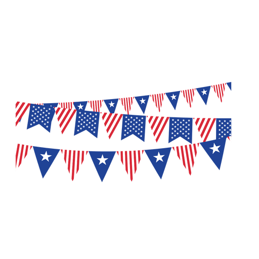 Triangle ribbon usa buntings Transparent PNG