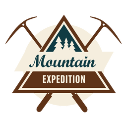 Triangled mountain expedition badge