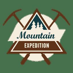 Triangulado emblema expedição montanha