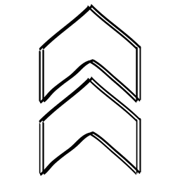 Dreieck-Pfeil-Cursor-Zeichnung