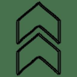 Triángulos flecha cursor dibujo