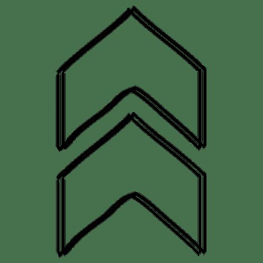 Triangles arrow cursor drawing Transparent PNG