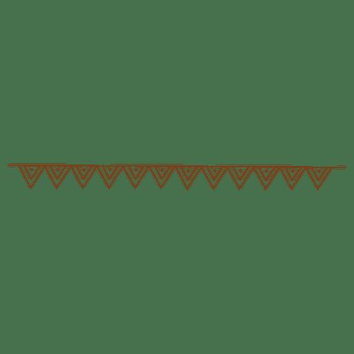 Triangles dot border pattern