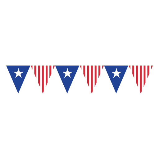 Triangles usa flag bunting Transparent PNG
