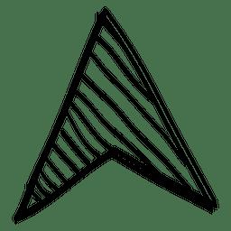 Cursor de desenho de seta triangular
