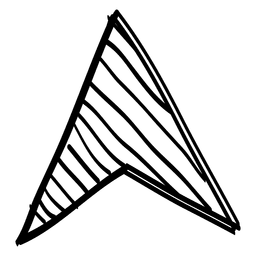 Flecha triangular con cursor de dibujo.